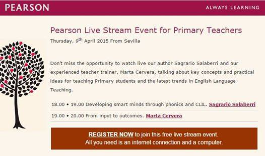 Pearson Live stream event for Primary Teachers