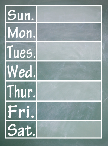 5a--days of the week