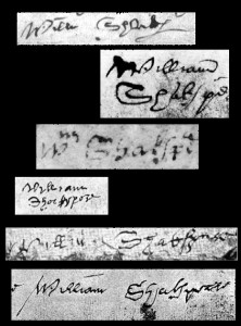 Shakespeare's Signatures (Public Domain)